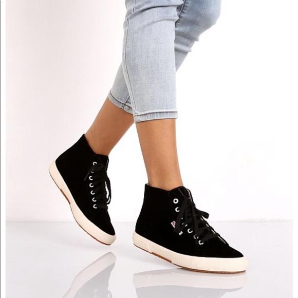Superga Shoes | Superga High Top Velvet